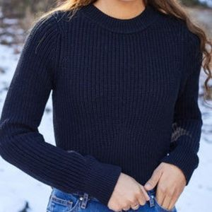 PacSun NWT Black Mock Neck Ribbed Knit Sweater